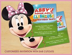 Minnie Mouse Clubhouse Birthday Invitations CUSTOM by teddyted55, $13.99