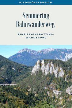 Eine Trainspotting Wanderung auf 21 Kilometern rund um Viadukte, pfeifende Züge und herrlichen Ausblicken. Streckenbeschreibung und Tipps für den Bahnwanderweg zwischen Semmering und Payerbach. #SemmeringWandern #ÖsterreichSchönsteOrte #ÖsterreichUrlaub #ÖsterreichWandern #ÖsterreichUrlaubSommer #NiederösterreichAusflug #Niederösterreich #ÖsterreichAusflugsziele #AusflügeÖsterreich #AusflugszieleinÖsterreich #Semmeringwandern #Semmeringbahn #WanderninNiederösterreich #WandertippsÖsterreich Rafting, Outdoor Reisen, Mountains, Nature, Travel, Day Trips, Sailing, National Forest, Road Trip Destinations