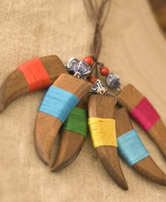 Colored Wooden Key Chain