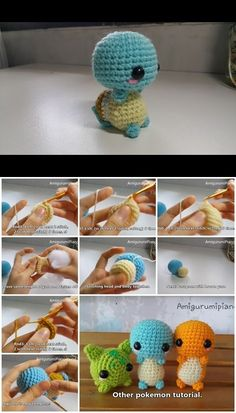 How to Make Amigurumi Crochet Squirtle   UsefulDIY.com