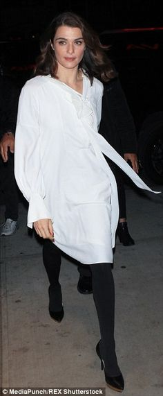 098f33f57cabbe Rachel Weisz wows in all white at Youth screening in NYC