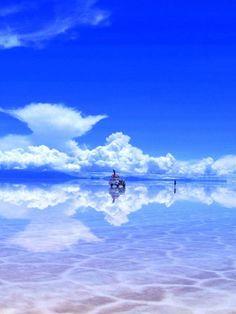 ボリビアのウユニ湖の壁紙(iPad用/768×1024)