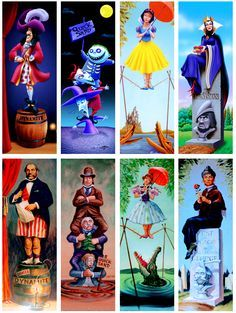 The Haunted Mansion Portraits portrayed by Disney characters