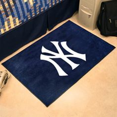 mlb new york yankees starter rug by fanmats httpwww