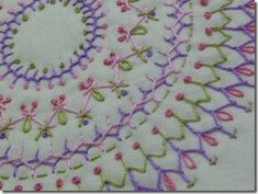 Embroidery....(very pretty and very simple stitches to create a lovely design!)....