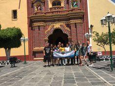 Estudiantes de University of North Texas en el Templo de San Francisco Acatepec. Puebla - 2018.