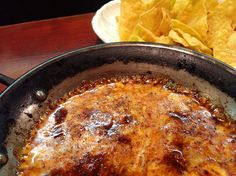 Hot Queso and Corn Tortilla Chips at Beer Horn in Tokyo!  Great Beer Snack!
