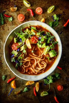 Spicy Mexican Chicken Noodle Soup -Gluten Free from HeatherChristo.com