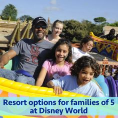 WDW Prep School • Resorts for families of 5 at Disney World (from least to most expensive)