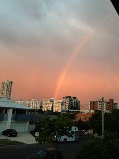 Rainbow after the rain at Burleigh Heads