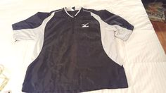 Mizuno Large L Black Baseball Softball Warm Up Pullover Vented Back Jacket  #Mizumo #CoatsJackets