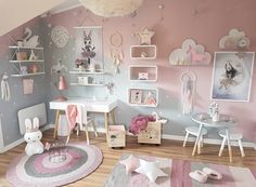 Cute, good ideas & desk for when she's older