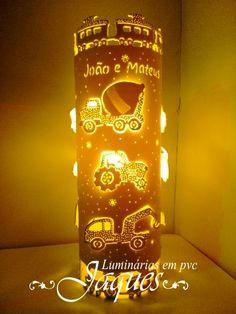 luminária em pvc coleção transporte