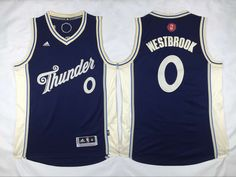 $21.5 Adidas Oklahoma City Thunder #0 Russell Westbrook Blue 2015 Christmas NBA Swingman Jersey cheap jersey from China