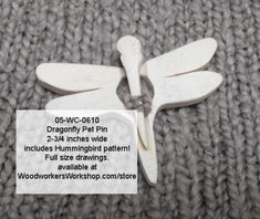 05-WC-0610 - Dragonfly Pet Pins with Bonus Hummingbird Scrollsaw Pattern PDF