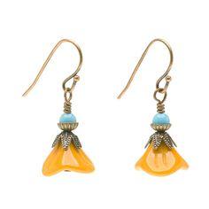 Tutorial - How to: Mustard Flower Earrings | Beadaholique