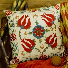 Four Tulips Embroidery - Ehrman Tapestry