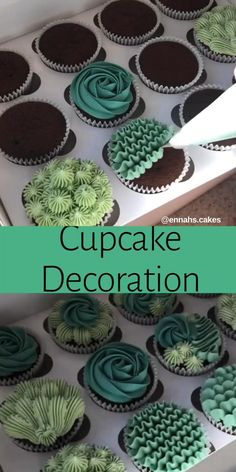 Cupcake Decorating Tips, Cake Decorating Frosting, Creative Cake Decorating, Cake Decorating Techniques, Creative Cakes, Cookie Decorating, Decorating Ideas, Cupcake Cake Designs, Cupcake Art