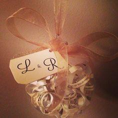 Bridal Shower Gift Idea // Gold Wedding Invitation Ornament by BreakfastWithBentley on Etsy