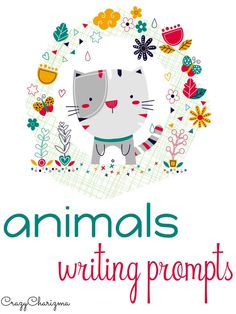 Get your subscriber FREEBIE! Use these cute animals writing prompts for primary school!