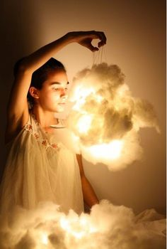 This is just heavenly! What a dreamy accessory this cloud lamp would be for your bedroom as seen on Wedding High.