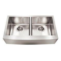 Kindred QDFS31B Steel Queen Farmhouse 32.875 In Double Kitchen Sink |  Loweu0027s Canada