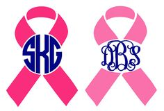 Breast Cancer Awareness Monogram Decal by BlueTimesTwo on Etsy, $3.50