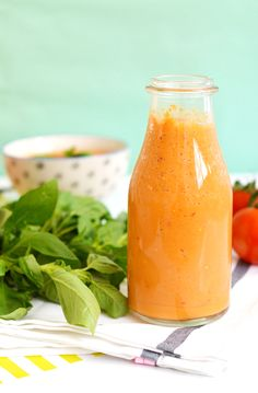 Gaspacho tomate basilic prêt en 5mn avec mon blender Omniblend