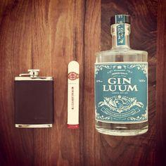 Gin Luum - Romeo y Julieta Cigar - Beretta Flask