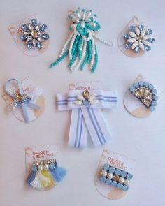 Bead Jewellery, Jewelry, Rosettes, Pearl Earrings, Hair Accessories, Brooch, Beads, How To Make, Diy