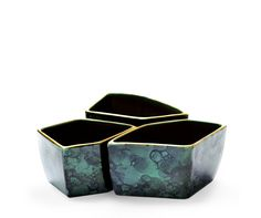 Malachite Green Geo Bowls - Aerin
