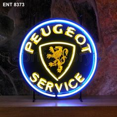 #neonfactory.eu. #peugeot #service #neon Ent 8373. Fore more exciting new products please visit our website: www.Neonfactory.eu French Classic, Classic Cars, Trucks And Girls, Neon Lighting, Cars And Motorcycles, Neon Signs, Posters, Ads, Lights