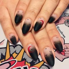 Edgy Ideas for Matte Black Nails to Break the Manicure Monotony ★ See more: https://naildesignsjournal.com/matte-black-nails-designs/ #nails