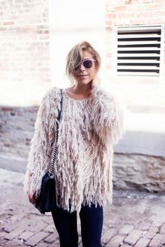 Slouchy Shaggy Coat   photo by happilygrey