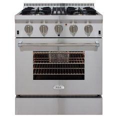 Aga Professional 4-Burner Convection Single Oven Dual Fuel Range (Stai