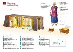 Diagram based on details given to Moses in the Bible book of Exodus. The high priest's apparel and the tabernacle used by Israel for worship in the wilderness. The Tabernacle, Sumo, Bible Teachings, Hebrew Bible, Learn Hebrew, Biblical Art, High Priest, Bible Truth, Jehovah's Witnesses