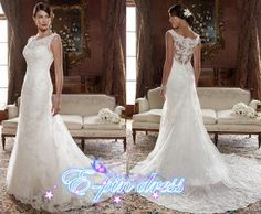 wedding dress  lace wedding dress  mermaid style by epindress, $225.00