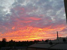 Taivas palaa. Himlen kommer tillbaka. #iltarusko #auringonlasku #arabianranta Clouds, Celestial, Sunset, Outdoor, Outdoors, Sunsets, Outdoor Games, The Great Outdoors, The Sunset