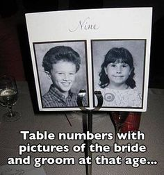 Yes! Cute table number idea