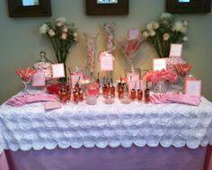 Candy Bar/Dessert Table. Overlay was created by me. #candybar #babyshower #customoverlay