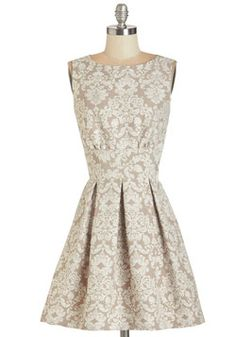 Ain't We Haute Fun? Dress in Jacquard. Theres no doubt about it - youre guaranteed to have a ball while dressed in this paisley-printed dress produced in the UK by Closet!  #modcloth
