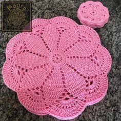 Crochet Round Cream White Doily Centerpiece Crochet Home Decor Crochet Table Decor made in Lithuania Filet Crochet, Crochet Motifs, Crochet Flower Patterns, Crochet Round, Crochet Home, Crochet Flowers, Knitting Patterns, Quick Crochet, Crochet Placemats