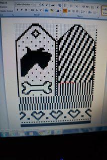 friskyfrog´s bod: vantar Knitted Mittens Pattern, Knit Mittens, Knitting Charts, Knitting Patterns, Crochet Patterns, Wrist Warmers, Hand Warmers, Crochet Cross, Crochet Hats