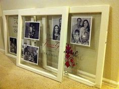 Window Pane Picture Frame - make cute christmas gifts! - Click image to find more Other Pinterest pins