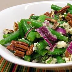 """Green Bean Blue Cheese Salad 