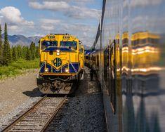 'Alaska Railroad' by JoeS Alaska Railroad, Railroad Photography, Paint Schemes, Locomotive, Trains, Transportation, Artworks, Journey, Vehicles