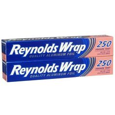 Just to help me remember: Reynolds Wrap Aluminum Foil 2 Pack - Includes: (2) 250 Square Feet Rolls Reynolds Wrap http://www.amazon.com/dp/B001R2NM5U/ref=cm_sw_r_pi_dp_hdemub1PTA4XN
