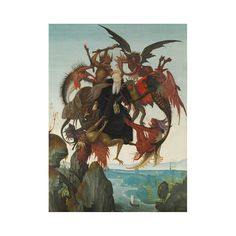 """Adorn your wall with our digital print reproduction of Michelangelo's """"The Torment of St. Anthony"""", 1487–88."""