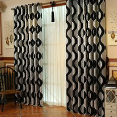 Black and silver curtains can be the great choice for your house. It is characterized as the neutral colors and they are suitable for all rooms.