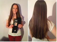 Before and after zala jet black 24 clip in hair extensions a happy customer sent in this photo of her lovely hair after zala hair extensions 20 pmusecretfo Choice Image